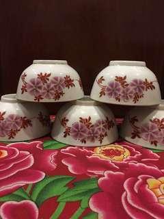 Vintage Porcelain Bowls - 5 pcs