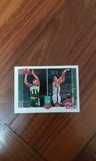 NBA Upper DECK 1992-1993 NBA Hoops 3-point % 籃球卡
