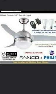 Fanco Ceiling Fan Remote Led Light