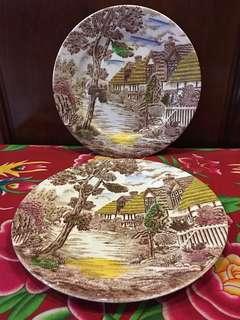 Vintage Cottage Plate Japan