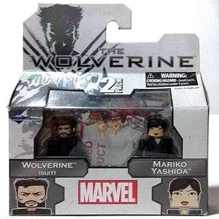 Marvel 2 pack ( MiniMates ) Wolverine Suit & Mariko Yashida