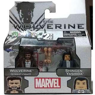 Marvel 2 pack (MiniMates) Wolverine Street Fight & Shingen Yashida 