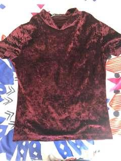Crushed velvet shirt