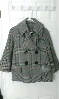 Zara tweed cape coat - small