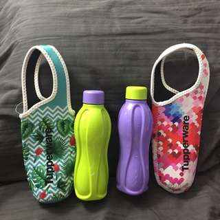 Colorful Water Bottle with Carrier