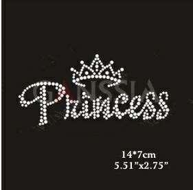 """""""Princess"""" Iron on hotfix"""