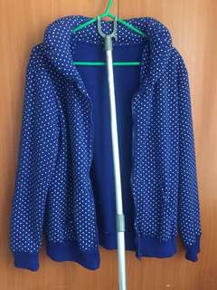 Blue with white dotted fashionable outer