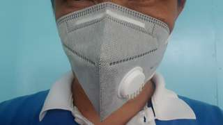 Mask with Valve Activated Carbon Filter
