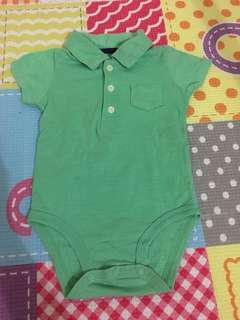 polo shirt styled onesie