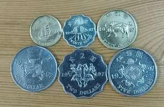 97年紀念硬幣(共6枚)