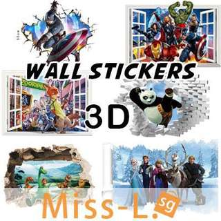 🎨 REMOVABLE 3D WATERPROOF WALL STICKERS