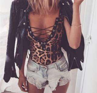 <PO> leopard bodysuit #BP#