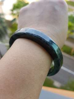 ⭐Bangle GradeA Myanmar Jade 乌鸡玉