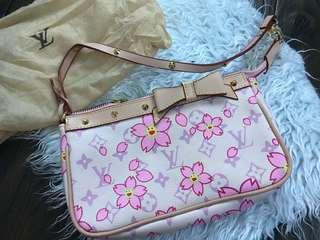 Limited Edition LV Cherry Blossom Pochette Pink Replica