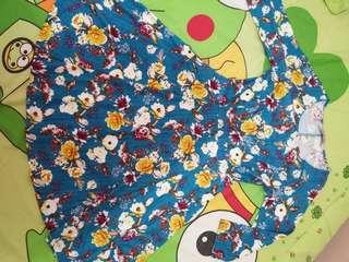 Dress floral minimal