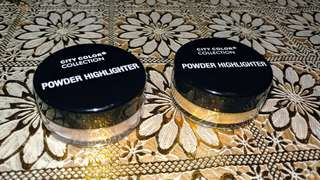 City Color Collection Powder Highlighter (Champagne and Gold)