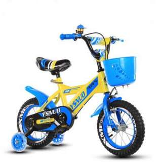PROMO-free delivery -Brand new kids Bike/Bicycle with Basket , Mud guards & training wheels, Adjustable seat height etc