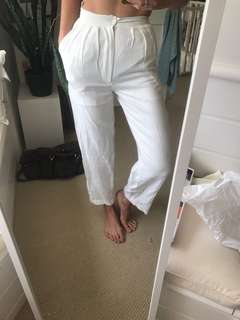 Cream trousers