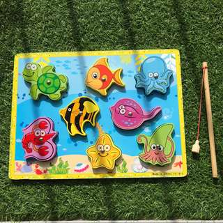Wooden Magnet Fishing Puzzle