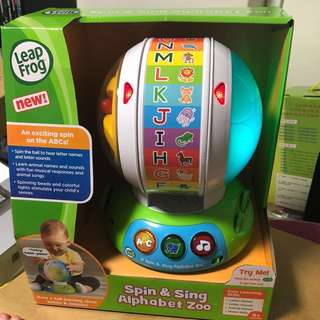 *ready stock* leapFrog Spin & Sing Alphabet Zoo / SCOUT'S ALPHABET ZOO BALL