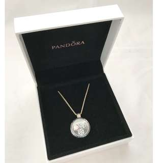 【不議價】限量版 Pandora Christmas Limited Edition Floating Locket pendent necklace