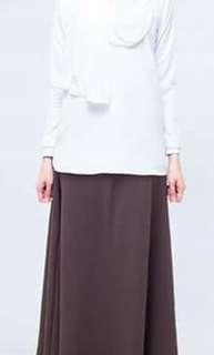 Bella Ammara Classic Bella Long Skirt in Dark Coco #20under