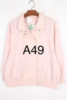 「古著」粉色 防風 復古運動外套