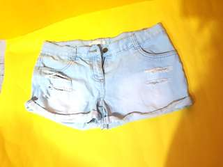 UK brand sexy denim shorts Used once only as it doesn't fit me