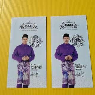 Angpow Packet Sampul Duit Raya Jakel Aaron Aziz