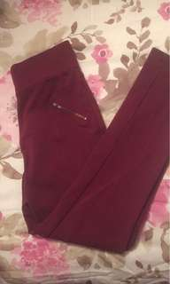 Size Small Maroon leggings