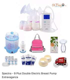 Spectra 9 plus double electric breast pump extravaganza