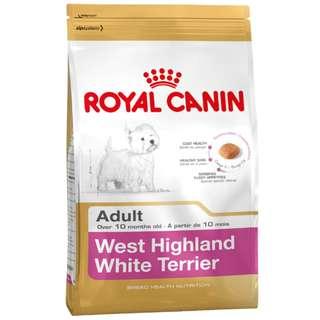 Free golf umbrella! Royal Canin Breed Health Nutrition West Highland White Terrier 21 Dry Dog Food 3kg