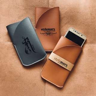 Customized Leather Phone Pouch