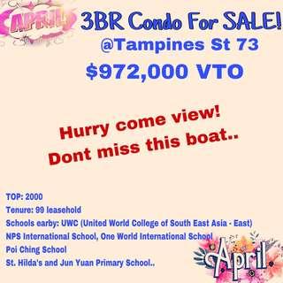 3BR condo @Tampines High Floor!