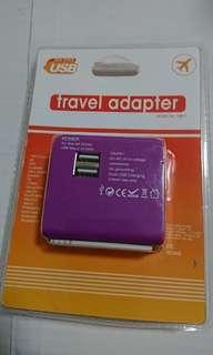 全球通用 2.1A雙 USB 萬用旅行 轉換插頭 電源轉接頭 充電器