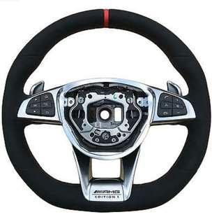 Genuine Mercedes AMG factory equipped GT steering wheels