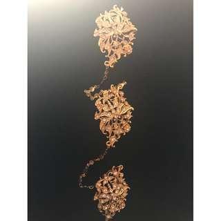 Peranakan Nonya costume jewellery gold plated faux diamond kerosang..