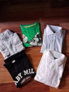 Take all 5pcs(1 polo, 2 longsleeves polo, 2 tshirts)