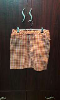 Plaid Skirt (Red, Size 6)