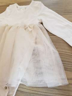 H&M baby white/beigh dress