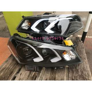 Proton Saga FL FLX Head Lamp Projector Daylight