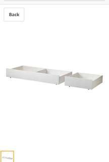 Ikea Brusali Bed Storage
