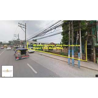 For Sale 5151sqm Commercial Lot in Gen.Luna Ave Ampid San Mateo Rizal