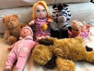 6 pieces soft toy/ stuff toys