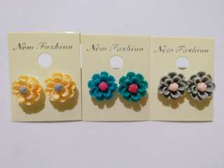 3 Pairs Floral Earring set