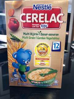 Nestle cerelac multi grain and garden vegetables from 12 Months -250g each. 10 pack available