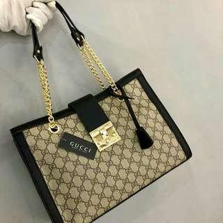 Gucci Shoulder Bag Black With Gold Hardware