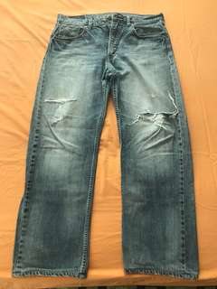 Levi's Blue Jeans Faded Torn