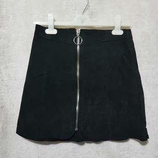 Zara zipped suede skirt