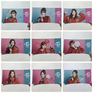 Twice 日本 Candy Pop 特典postcard 一套9張 硬卡簽名款  全員 $400